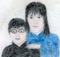 Sirius Black and Harry Potter by Imalshen