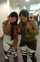 Eren and Mikasa by CoolShazza