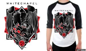 Whitechapel Merch Design by JamieKoala