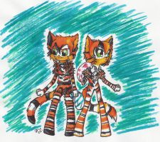 Notorious Couple of Cats by WindTear4427