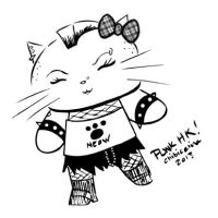 PUNK HELLO KITTY by ChibiCelina