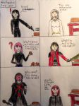 My OC's and Miss Fogarty's Xmas Cake by Rikuthedragonslayer
