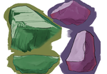 Painting light on boulders by PokeFusher
