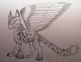 Snow Leopard Gryphon by Reptile64