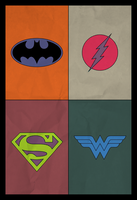 Colourblind DC Superheroes by AbelMvada