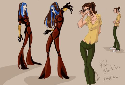 Illyria and Fred Designs by persephohi