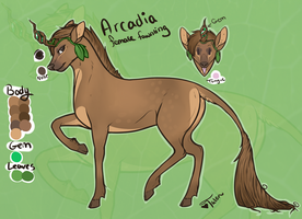 Arcadia the Fawnling by TalonEX