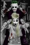 Die Antwoord as Harley Quinn and The Joker by rayzilla