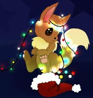 Eevee - Merry Christmas by xXFF7xYaoixX