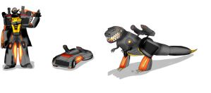 Transformers: Recoded: Grimlock by Skylight22