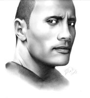 Dwayne Johnson aka The Rock by hellbydante