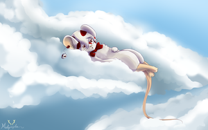 Zlogg dreaming on the clouds by Melymphe