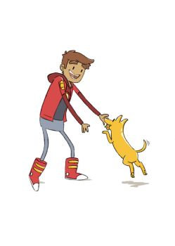 Danny + dog by Tarento