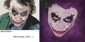 Filtered Joker vs Hand Drawn by TheSpyWhoLuvedMe