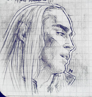 Thranduil from sketchbook by MegumiEvilKyu