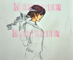 Katniss Everdeen scrap by kara-lija