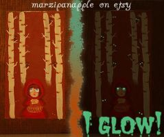 Red Riding Hood Glow Painting by Marzipanapple