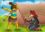 Tent for Lovers by Lazy-a-Ile