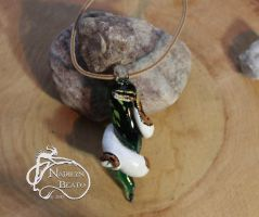 Pied Ball Python Pendant by NadilynBeato
