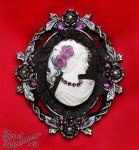 Victorian Gothic Floral Cameo Brooch by ArtOfAdornment