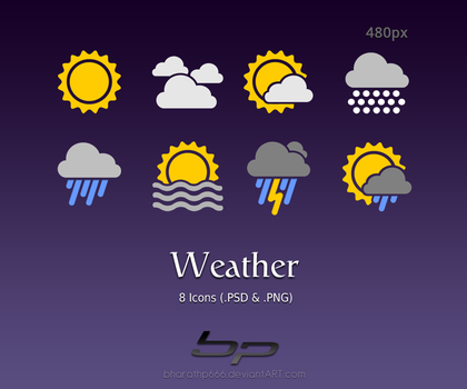 Android: Weather Icons by bharathp666