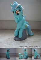 MLP Lyra Heartstrings FIMO by Qucykowa