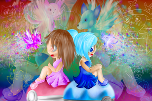 BG: Little girls with a beautifull fantasy by lifegiving