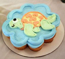 Sea Turtle CupCake by theshaggyturtle