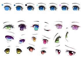 anime eyes (tutorial) by Serofima