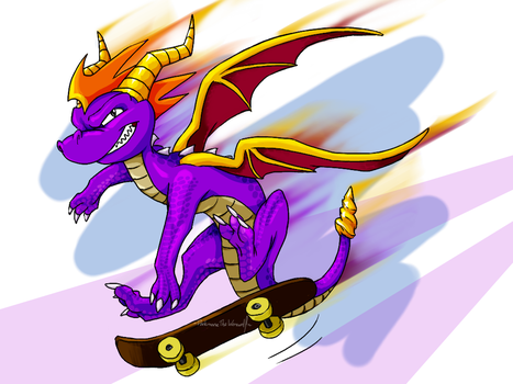 Spyro the Dragon by DarkmaneTheWerewolf