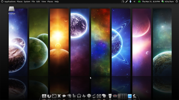 My Gnome Desktop by athulram