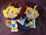 Yami Yugi and Pharaoh Atem aka Atemu Plushies by Yamigirl21