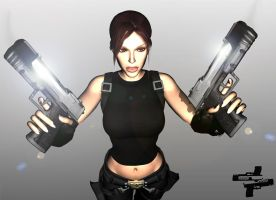 Lara Croft 3D - Sick Ammo by Rockeeterl