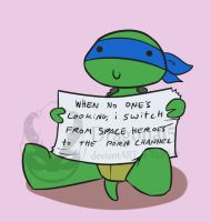 tmnt Totshaming Leo by Dragona15