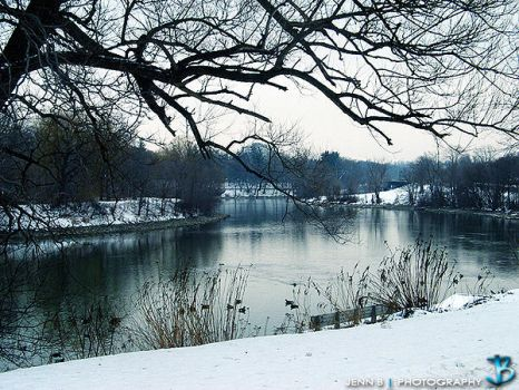Winter River by JennBPhotography