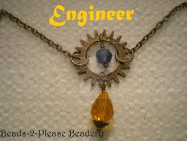 Engineer Guild Wars 2 Inspired Necklace by beadclass