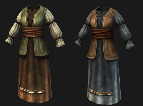 Fantasy Merchant Outfit by SteelFeathers