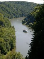 The Donau with a Boat by Singing-Wolf-12