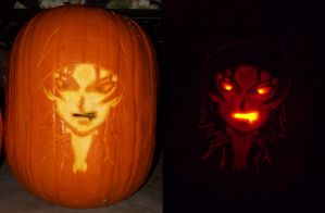Zelman Clock Pumpkin by ElvenDeathMarch