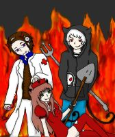 Welcome To Hell Hetaween Contest Entry by XxAmuFujibioshixX