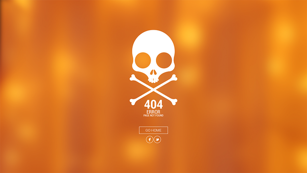 404 Page Hipster Style (Scull) by BbInuTb