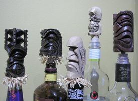 Tiki Bottle Stoppers by tflounder