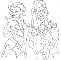 Dopplers-young family by TheInkgirl