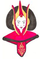 Queen Amidala - markers by Lmih