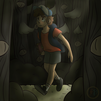 The Forest (with speedpaint) by Desteny-Love