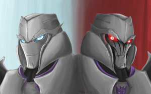 Megatronus and Megatron by theREDspy
