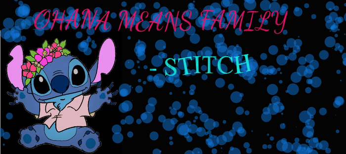 Ohana Means Family- Stitch by GamzleleValdez