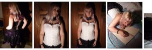 Corset half body portraits set by xNatje-stock