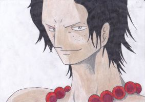 Portgas D. Ace by MugiwaraFairy