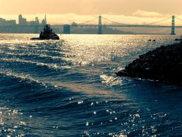 San Francisco Skyline Duotone by bradAdad